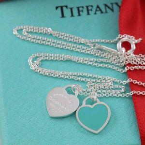 💙 Brand New Tiffany & Co Mini Double Heart Tag